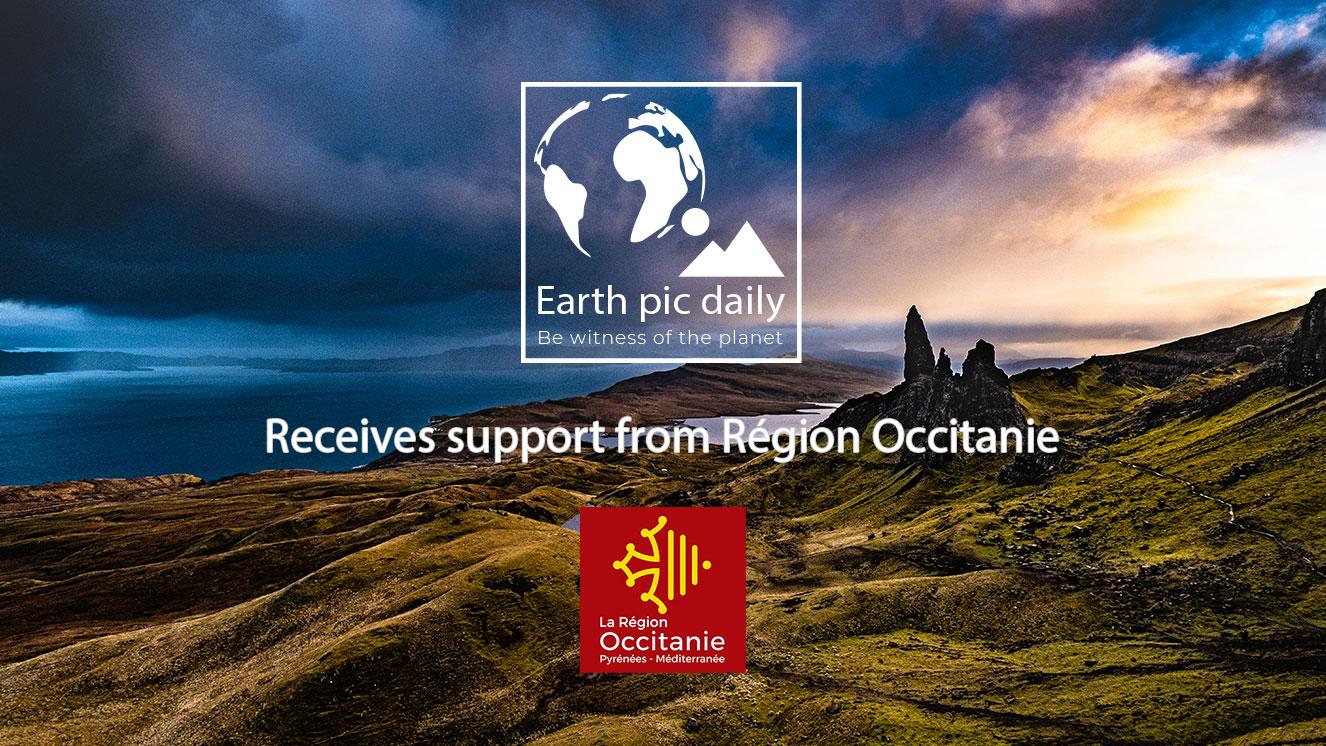 La Région Occitanie / Pyrénées-Méditerranée supports Earth Pic Daily